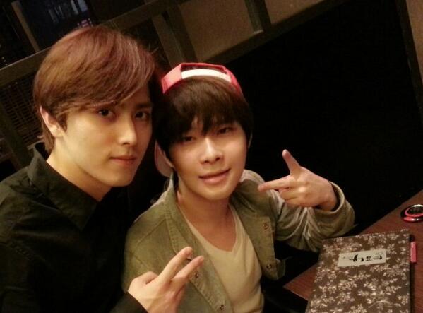 [TWITTER] Yu Chan Bumble Rock tweet et poste 3 photos avec Heecheol et Minwoo